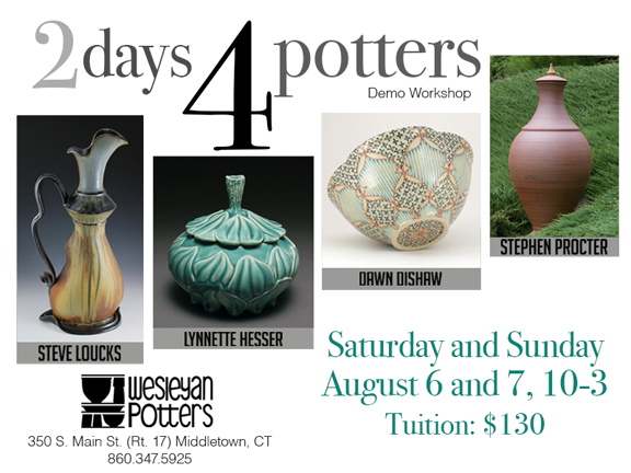 2days4potters web with address